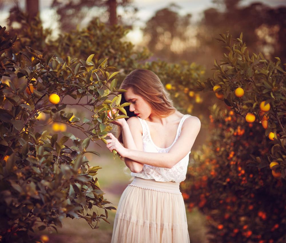 Andrea and the Orange Tree by vampire-zombie