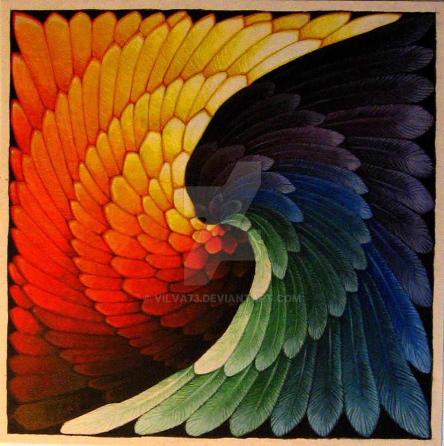 Yin - Jang, Dragon + Cock by vilva73