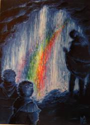 Waterfall of rainbow by vilva73