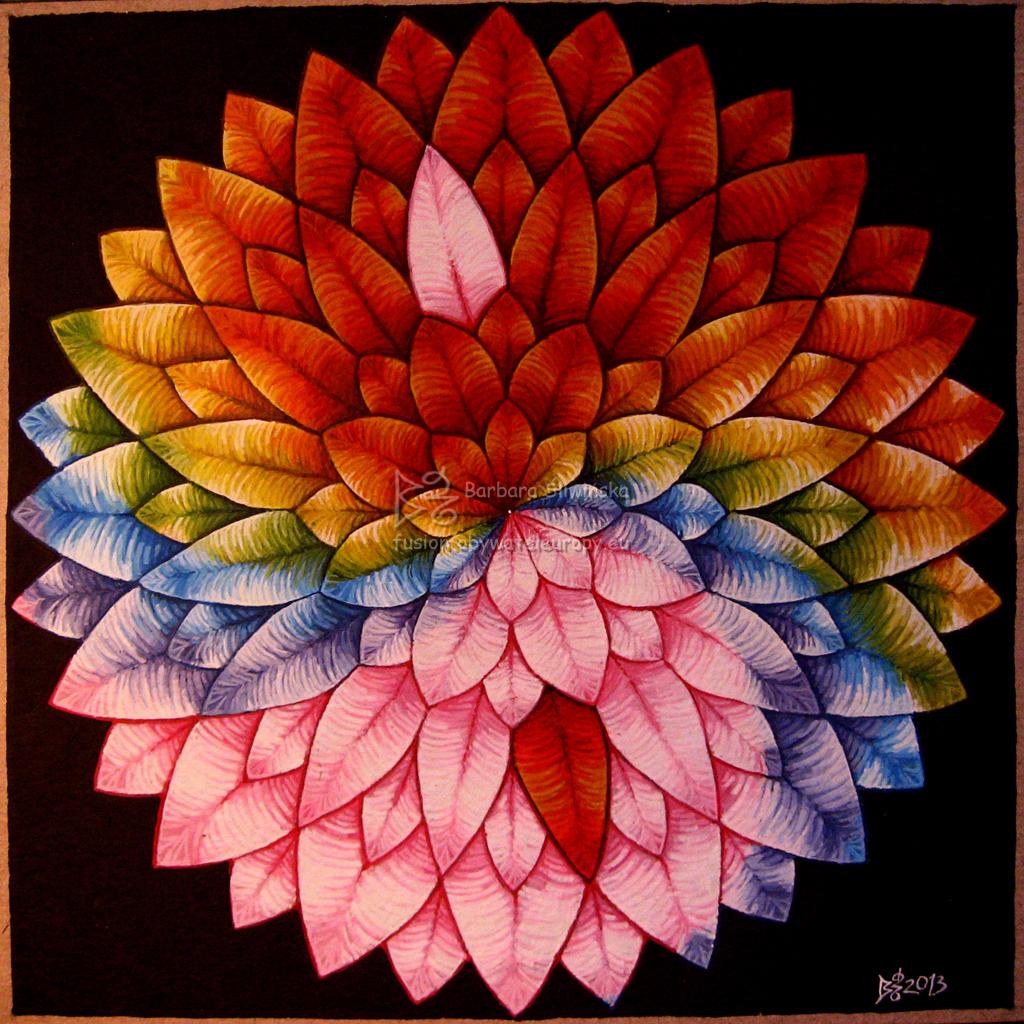 Yin/Jang, rainbow lotus by vilva73