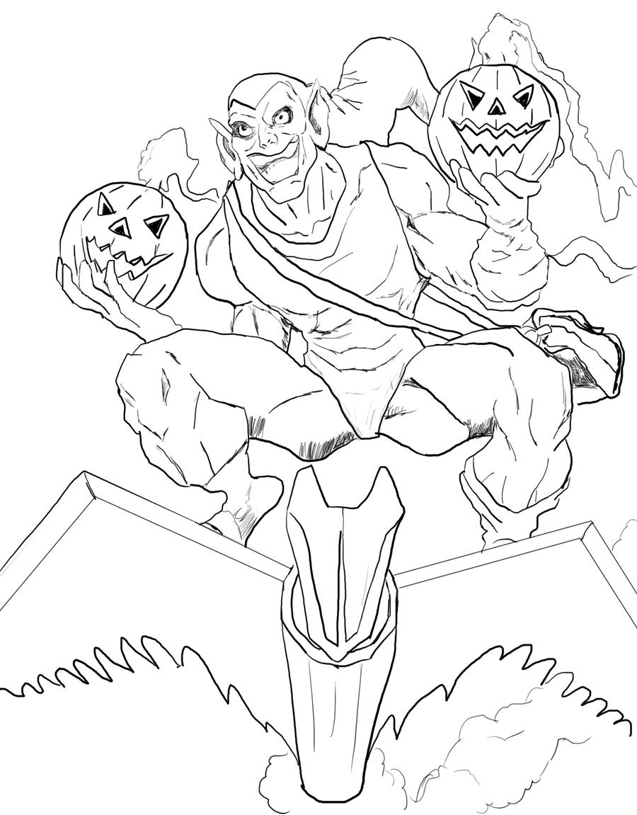 Sketch green goblin by bazito on deviantart for Green goblin coloring pages