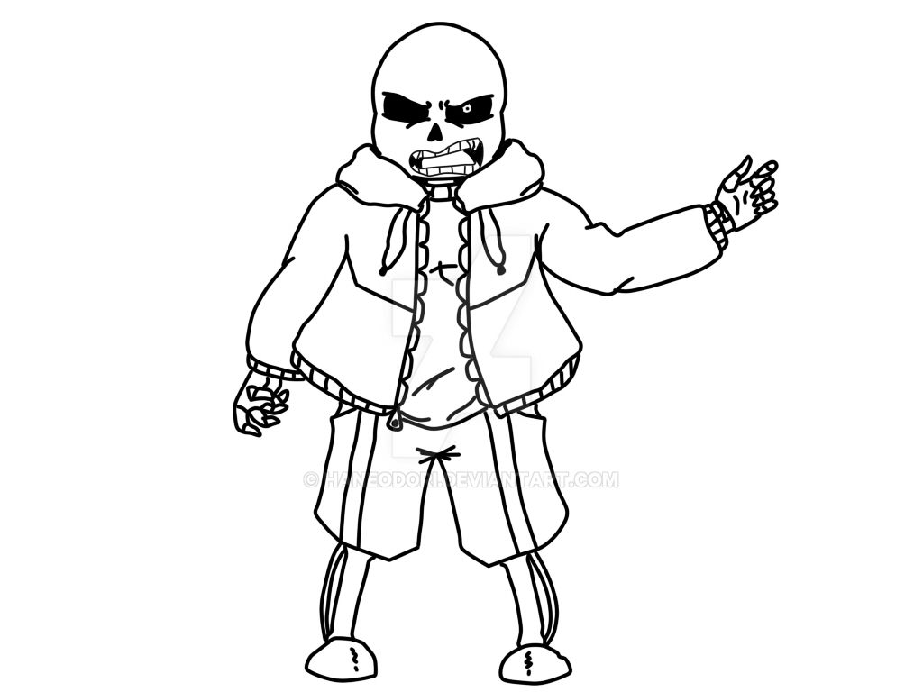 Undertale sans dirty brother killer by haneodori d by for Sans coloring page
