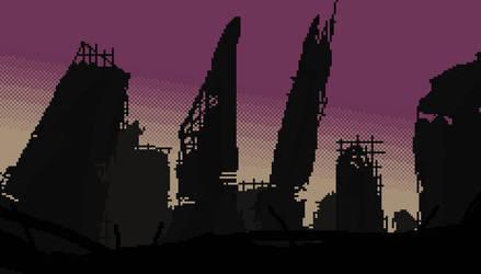 CyberPunk Ruins by AlexTheTrain