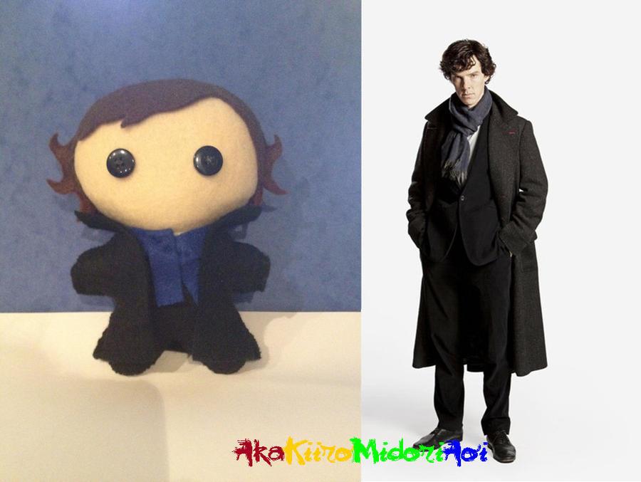 BBC Sherlock Plushes: Sherlock Holmes (Updated) by AkaKiiroMidoriAoi