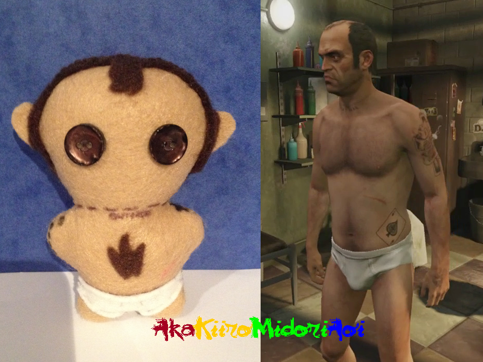 GTA V Plushes: Uncle T by AkaKiiroMidoriAoi