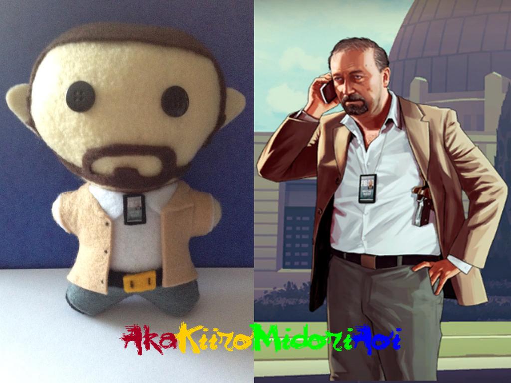 GTA V Plushes: Dave Norton by AkaKiiroMidoriAoi