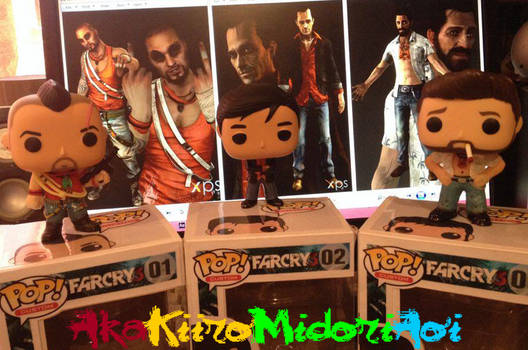Custom Pop #1+2+3 - Far Cry 3 - Vaas + Hoyt + Buck
