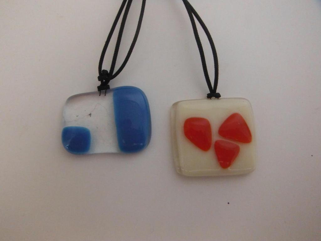 Fused Glass pendant -bundle no.4 by Akitainu96