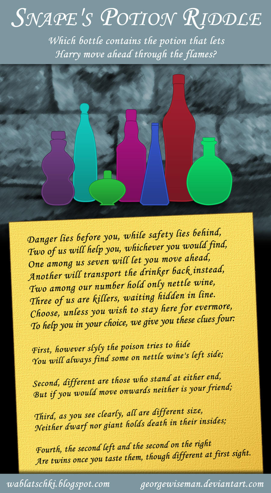 Snape's Potion Riddle by GeorgeWiseman