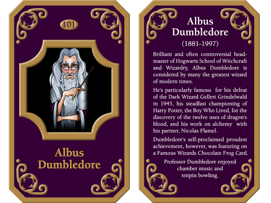 Famous Wizard Cards Albus Dumbledore By Georgewiseman On