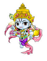 Chibi Vishnu by CephiraOnamu