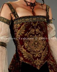 Elizabethan Ensemble Corset by FoxGloveFashions