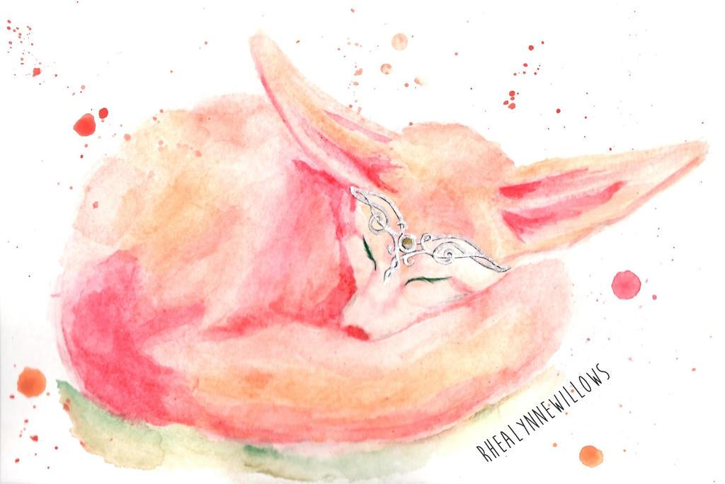 Fennec Fairy by rhealynnewillows