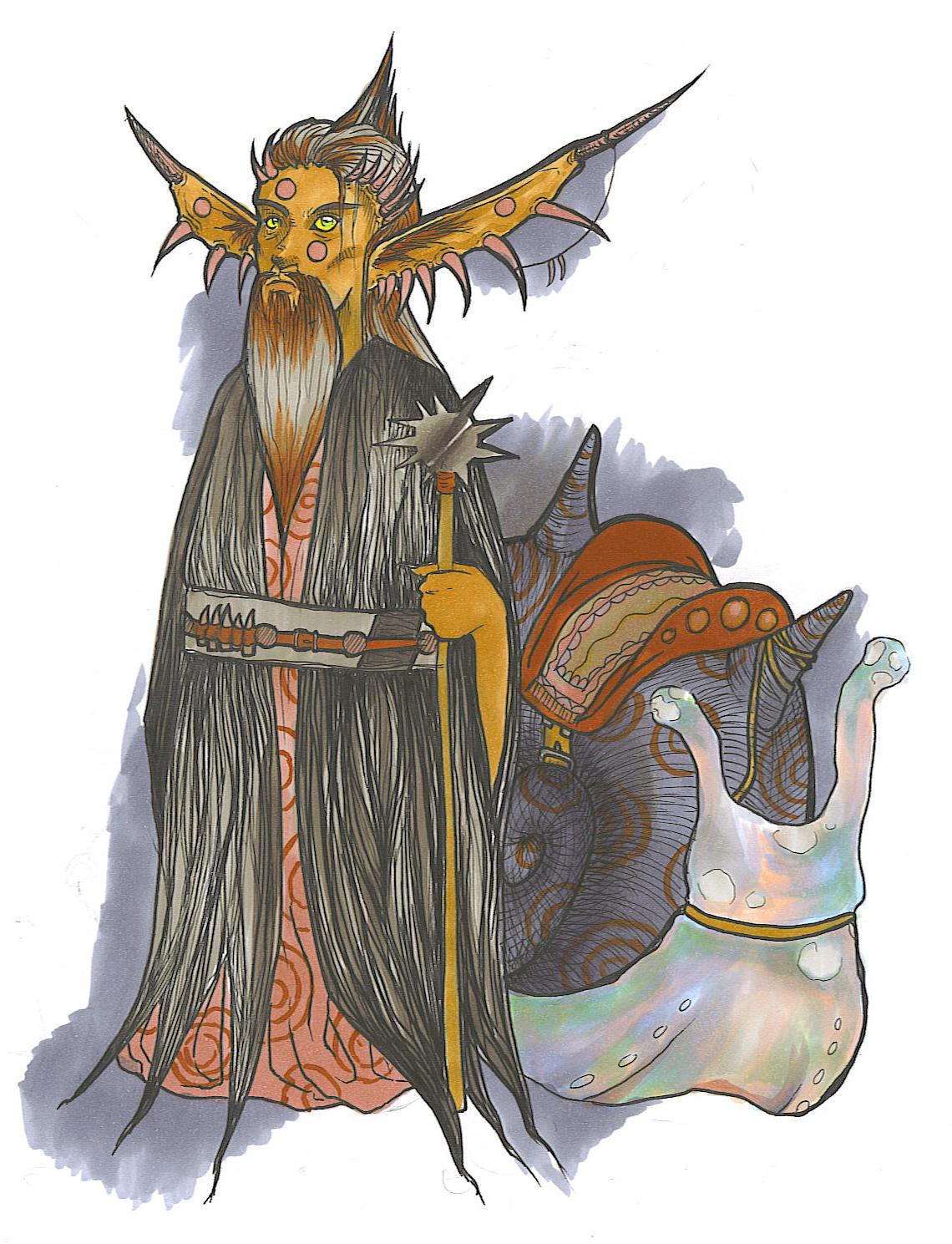 The Elder Spiked Gremlin by KassieOpia