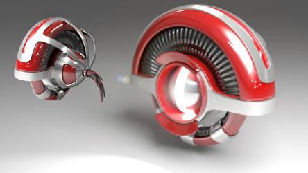 3D Futuristic Drone / Robot Final Version
