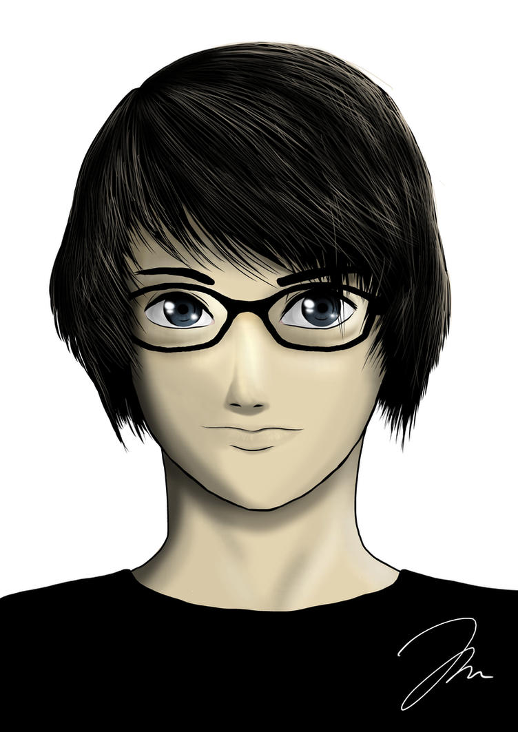 Manga Self-Portrait by AtokNiiro