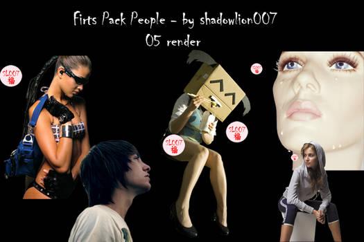 Pack1 render people - by SL007