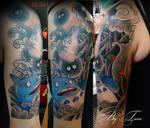 My Totoro tattoo by Sorochka