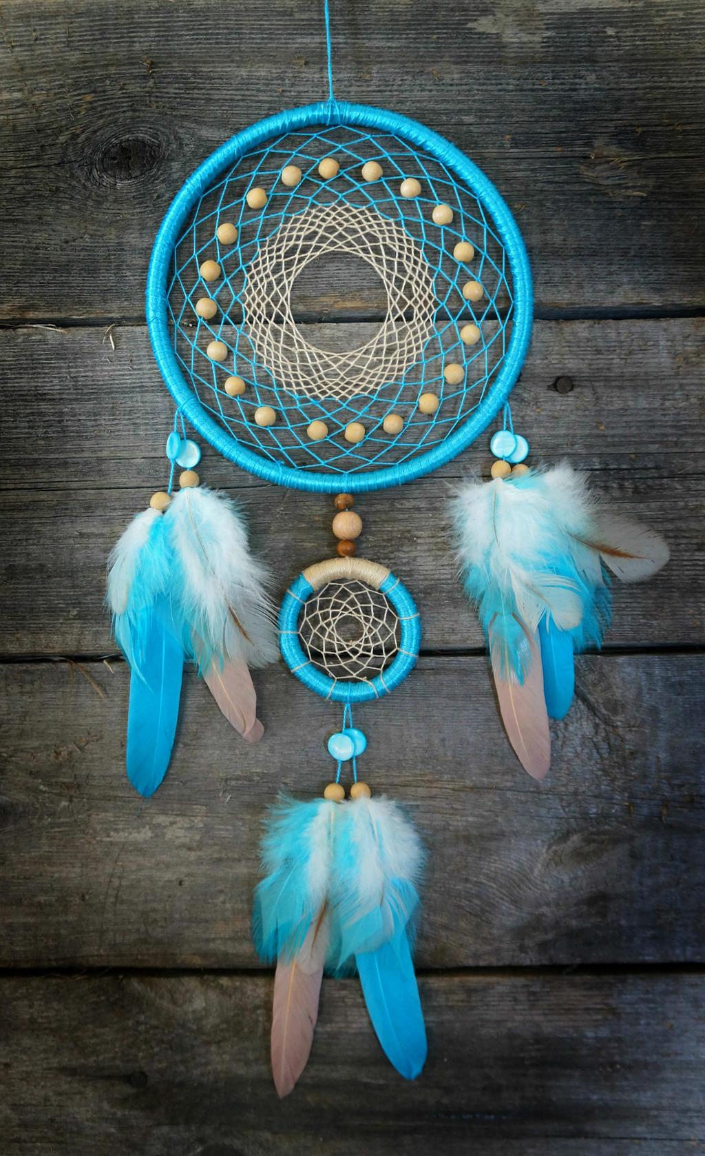 Blue dreamcatcher by sorochka on deviantart for Dreamcatcher beads meaning