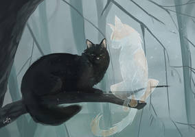Hollyleaf and Fallen Leaves. Warriors Cats by EnayaRay