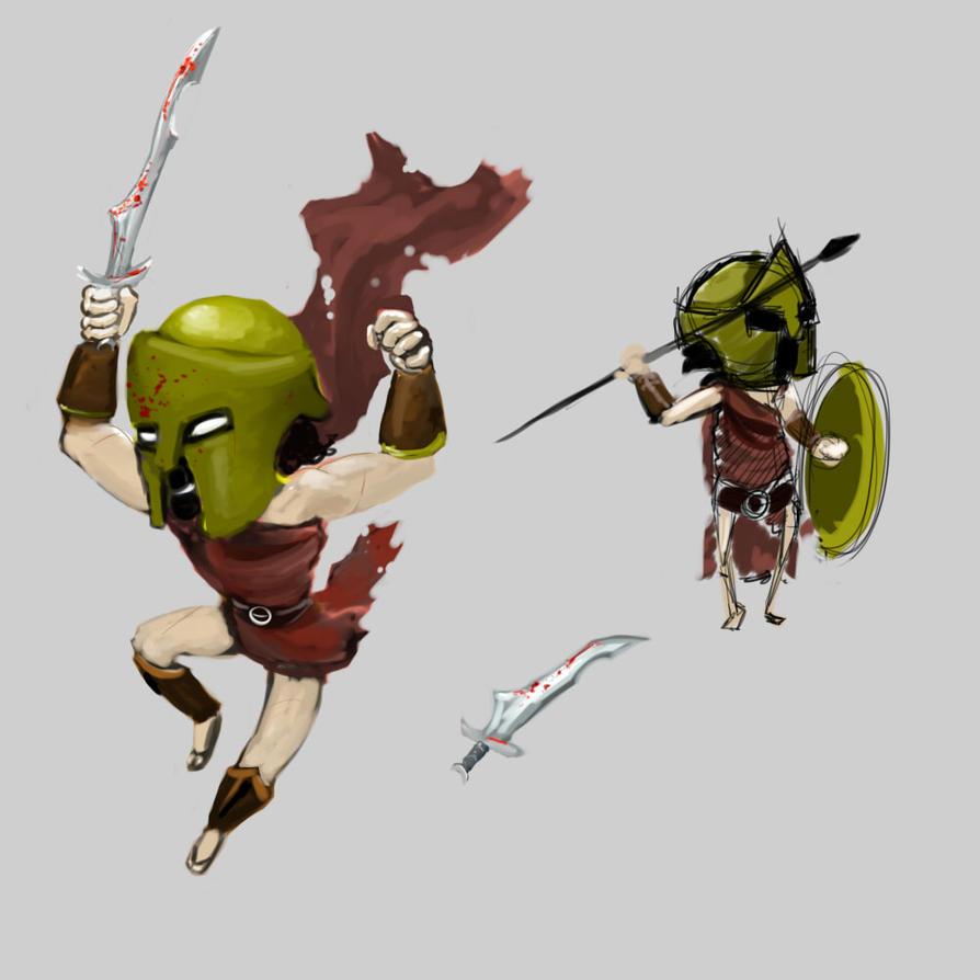 Spartan Sketches by Germille