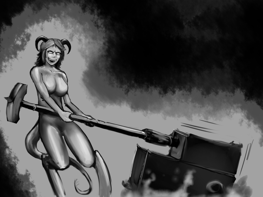 ChainAxe and tits by Germille