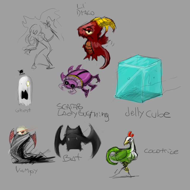 Game doodles by Germille