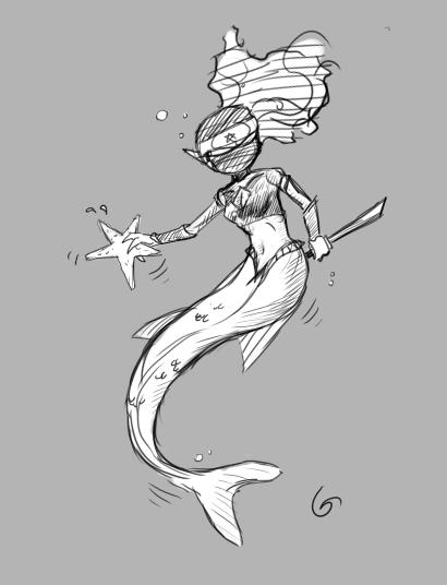Ninja Mermaid by Germille
