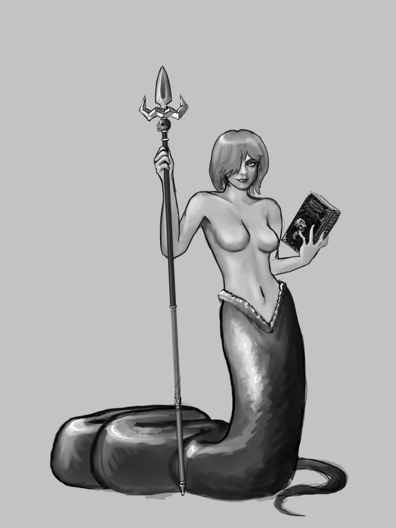 Sexy Snake Girl Librarian by Germille