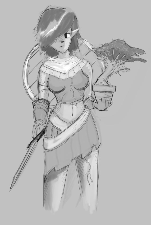 Dryad Bonzai Warrior by Germille