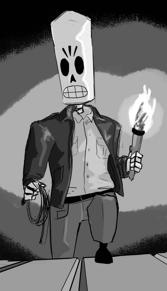 Manny Calavera Jones by Germille