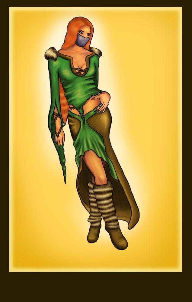 Tavern woman again by Morwan