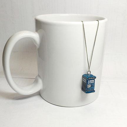 Teeny Tiny TARDIS pendant by tragicrabbit07