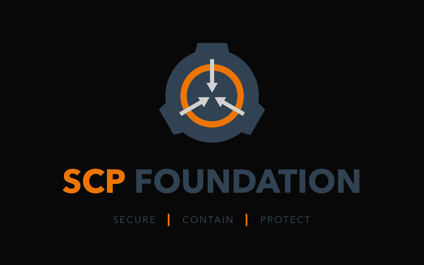Scp Foundation 1440x900 Background Flat Colors By