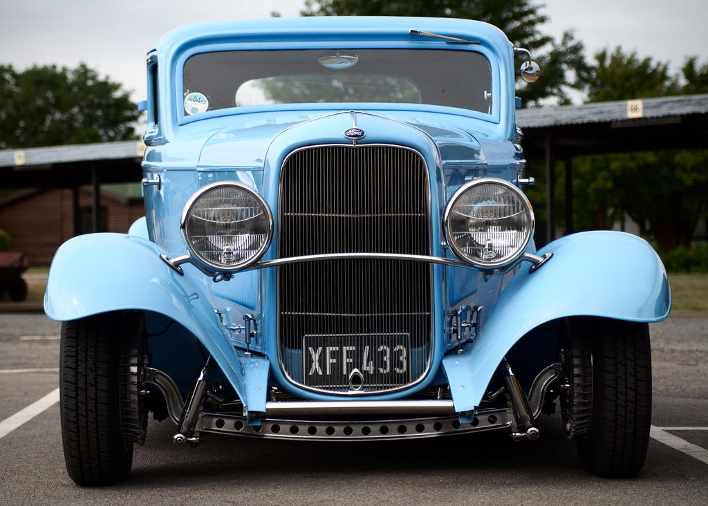 Ford Hot Rod, Blue - Front by FurLined