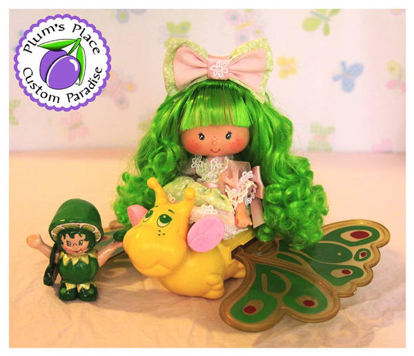 Lime Chiffon Berrykin Style Doll by PlumsPlace
