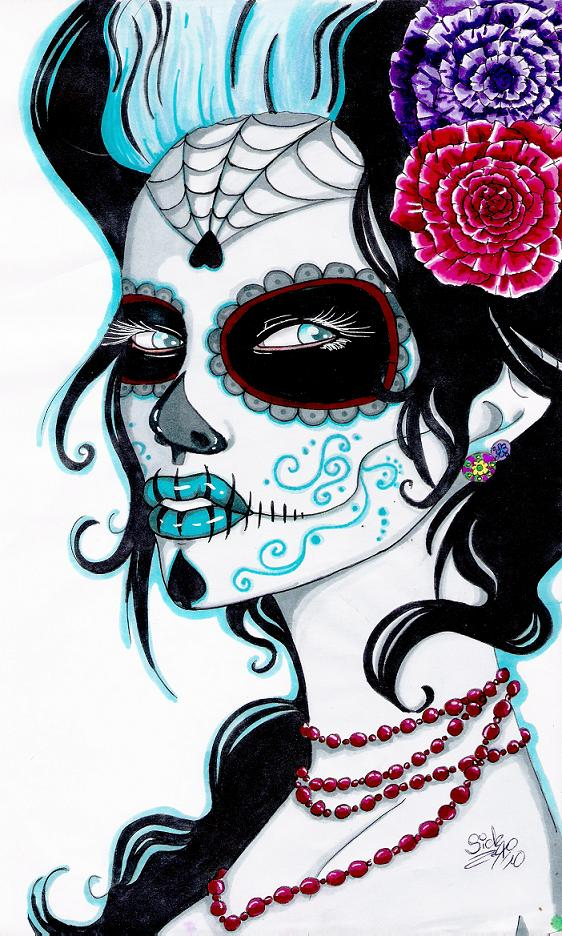 Beautiful Sugar Skulls Drawings Sugar Skull Lad...