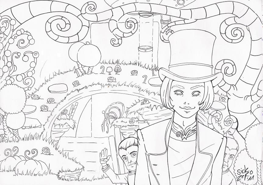 Willy Wonka Outlines By Zombiecherry13 On Deviantart Willy Wonka Coloring Page