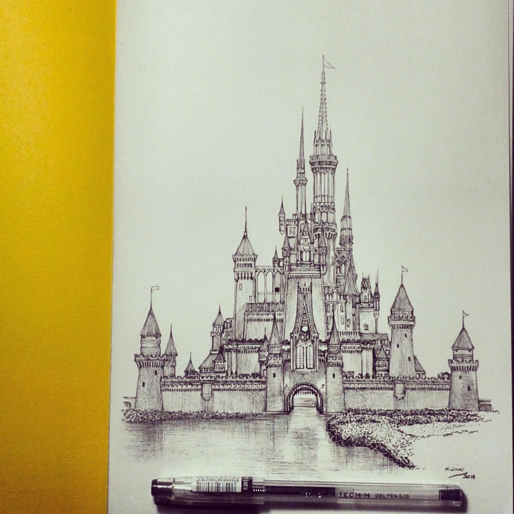Walt Disney Castle By Edwin Huang