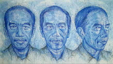 Portraits of Joko Widodo by edwin-Huang