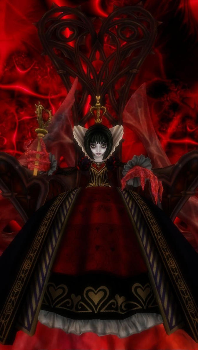 [Alice Madness Returns] Queen of Hearts by virsuz