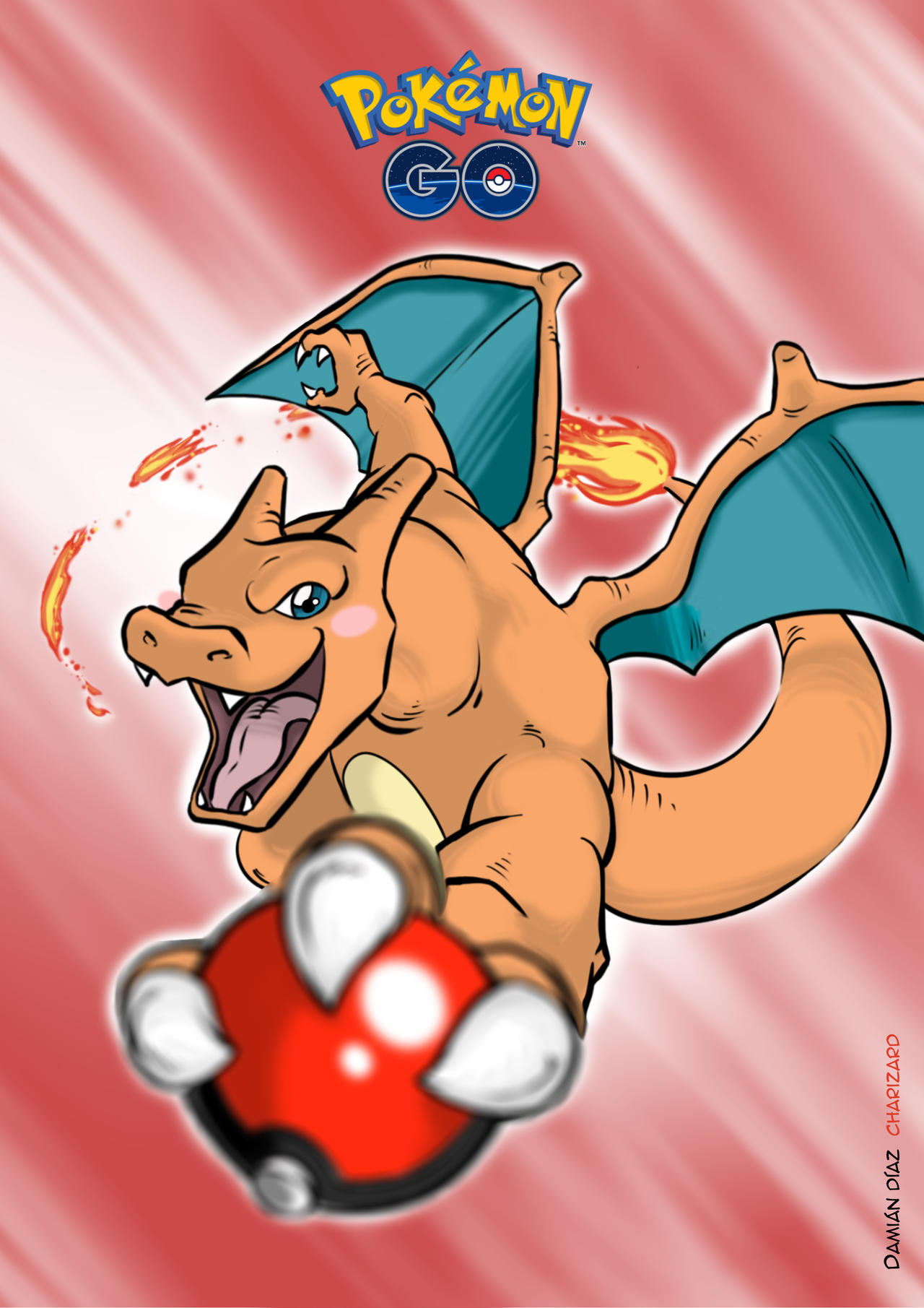 Charizard Poster Free Download Full Size By Damian Diaz On Deviantart