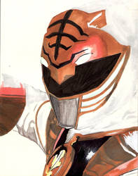 Go Go White Ranger by HolyDemonKnight
