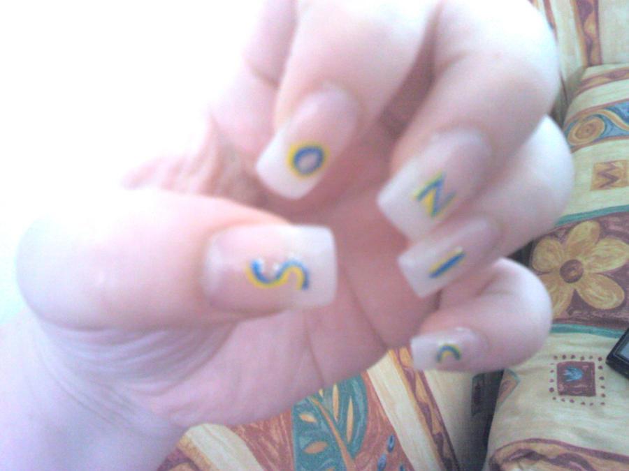 :: SONIC Nail art :: by HelenBaby
