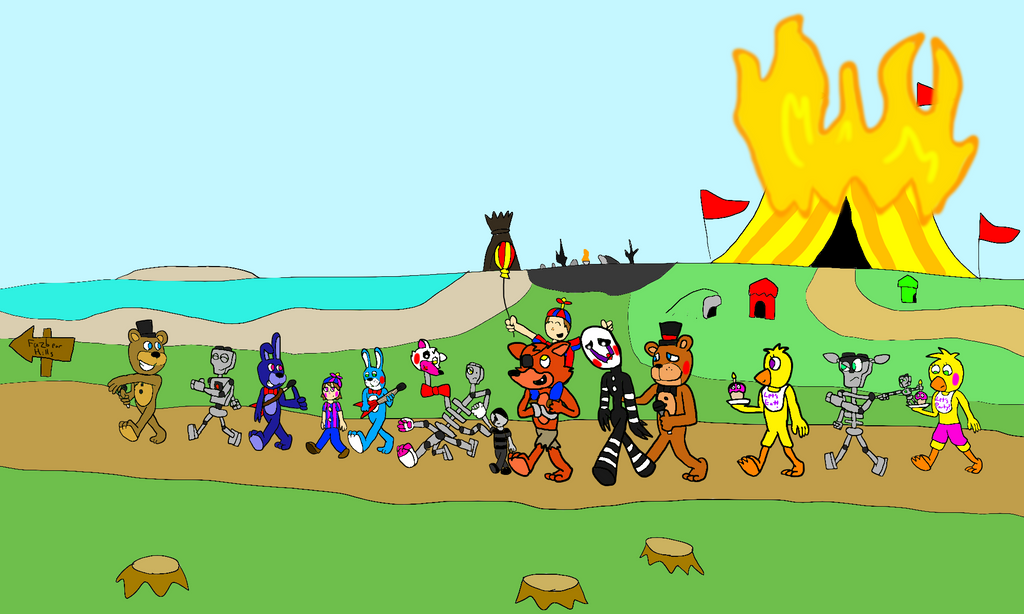 Freddy Fazbear And Friends: Let's Go Home, Guys! By All