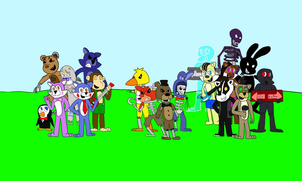 Freddy Fazbear And Friends: Fan Characters By All