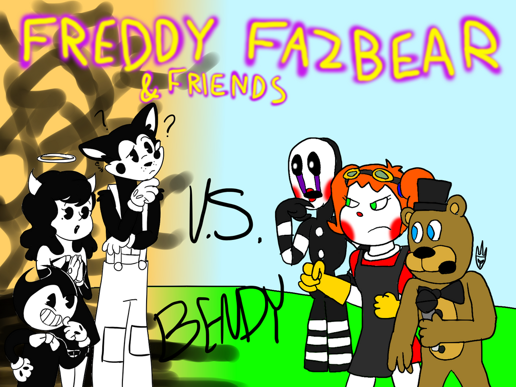 Freddy Fazbear And Friends Vs Bendy (Collab) By All