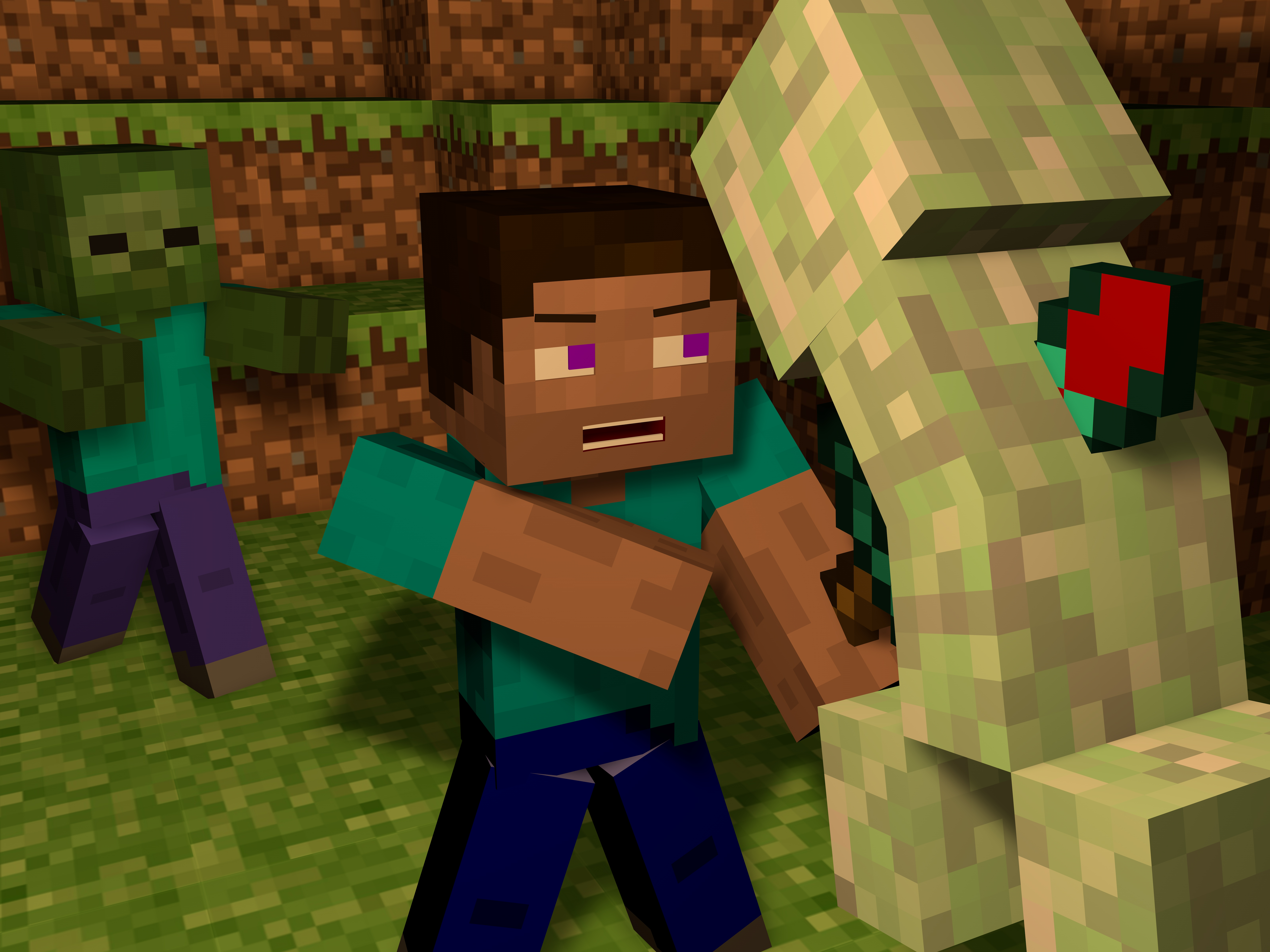 Steve minecraft wallpapers cake ideas and designs - Minecraft creeper and steve ...