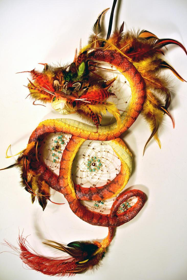 Quetzalcoatl Dreamcatcher View II by TheRedMeadows