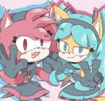Miku Honey and Teto Amy